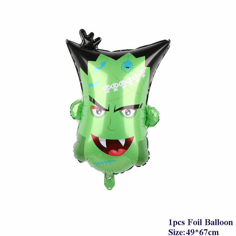 Cadılar bayramı kabak hayalet balonlar cadılar bayramı süslemeleri örümcek folyo balonlar şişme oyuncaklar yarasa Globos cadılar bayramı partisi malzemeleri