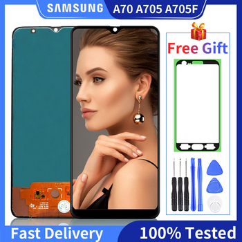 100% Tested Good Working LCD For Samsung Galaxy A70 A705 SM-A705F LCD Display Touch Screen Digitizer Assembly For A70 LCD amscan стакан даша путешественница 8 шт