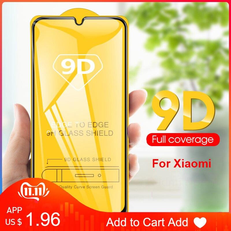9D Full Cover Screen Tempered Glass For Redmi Note 5 6 7 Pro Phone POCO F1 On 6X  A2 Lite Redmi 5 Plus 6 6A 6PRo Mi 8 9 Se Cc9e