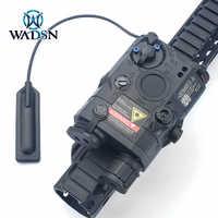 WADSN-linterna táctica Airsoft PEQ 15, láser LA-5C, azul, IR, con luz blanca