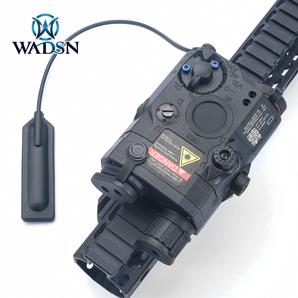 WADSN Airsoft PEQ 15 Tactical Flashlight LASER LA-5C PEQ15 Blue Laser+White Light IR LIGHT Lanterna Tatica Pistola Weapon Lights