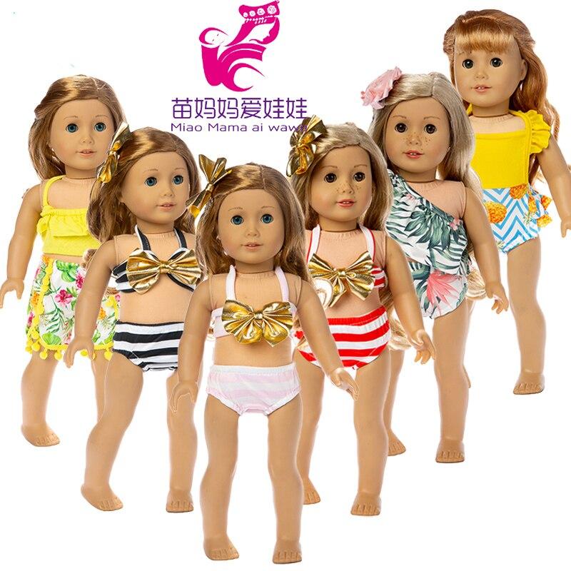 18 Inch Doll Swimming Clothes for 17inch Baby Doll Bikini Wear 18