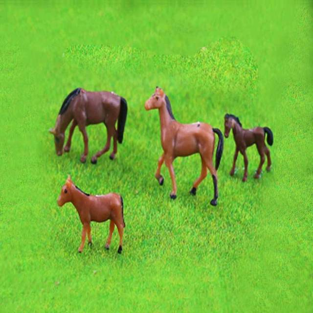 5pcs Ho Soale 1:87and1:150 Sand Table Model Small Animal Color Model Cow Horse Sheep Handicraft Display DIY Handmade Creation 5