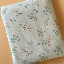 DIY Sewing Cotton Linen Fabric Floral Printed Pure Quilting Canvas Material Tablecloth Sofacover Pillowcase