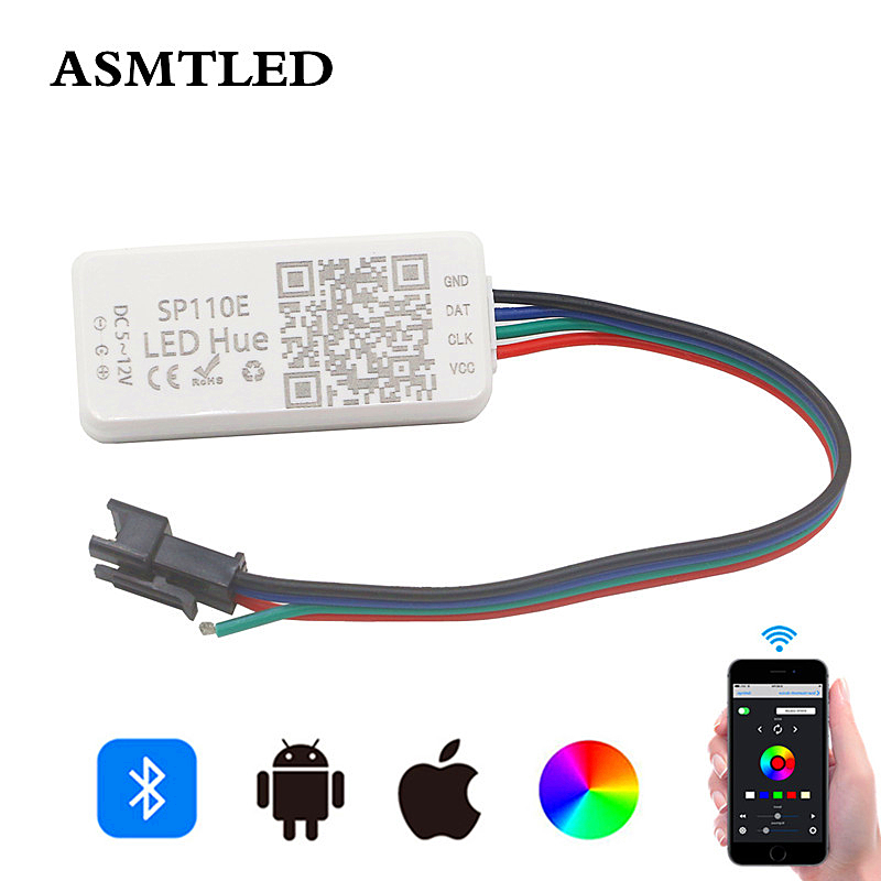 SP110E Bluetooth Pixel Controller Dimmer For WS2811 WS2812B WS2812 SK6812 RGB RGBW APA102 WS2801 Pixels Dream Color LED Strip image