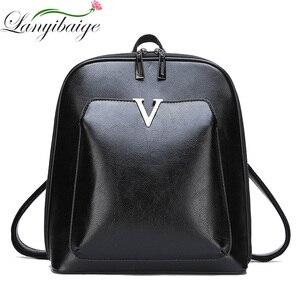 Image 2 - Sac à dos Vintage en cuir pour femmes, sac décole de grande capacité pour filles, sac à bandoulière de loisirs, 2020