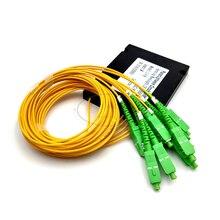 SC APC 1x8 PLC סיבים אופטי ספליטר יחיד מצב עם SC APC מחבר FTTH