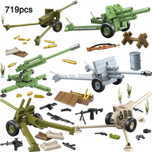 legoingly Military World war D-44 Antitank Gun 52-K aircraft gun Army Mini Soviet Union Figures Building Blocks Bricks Toys