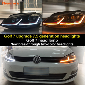 Car Styling Head Lamp case for VW Golf7 Headlights Golf 7 MK7 2013-2017 LED Headlight DRL Lens Double Beam Bi-Xenon HID