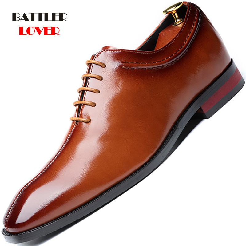 2019 Newest Men Dress Shoes Designer Business Office Lace-Up Loafers Casual Driving Shoes Men