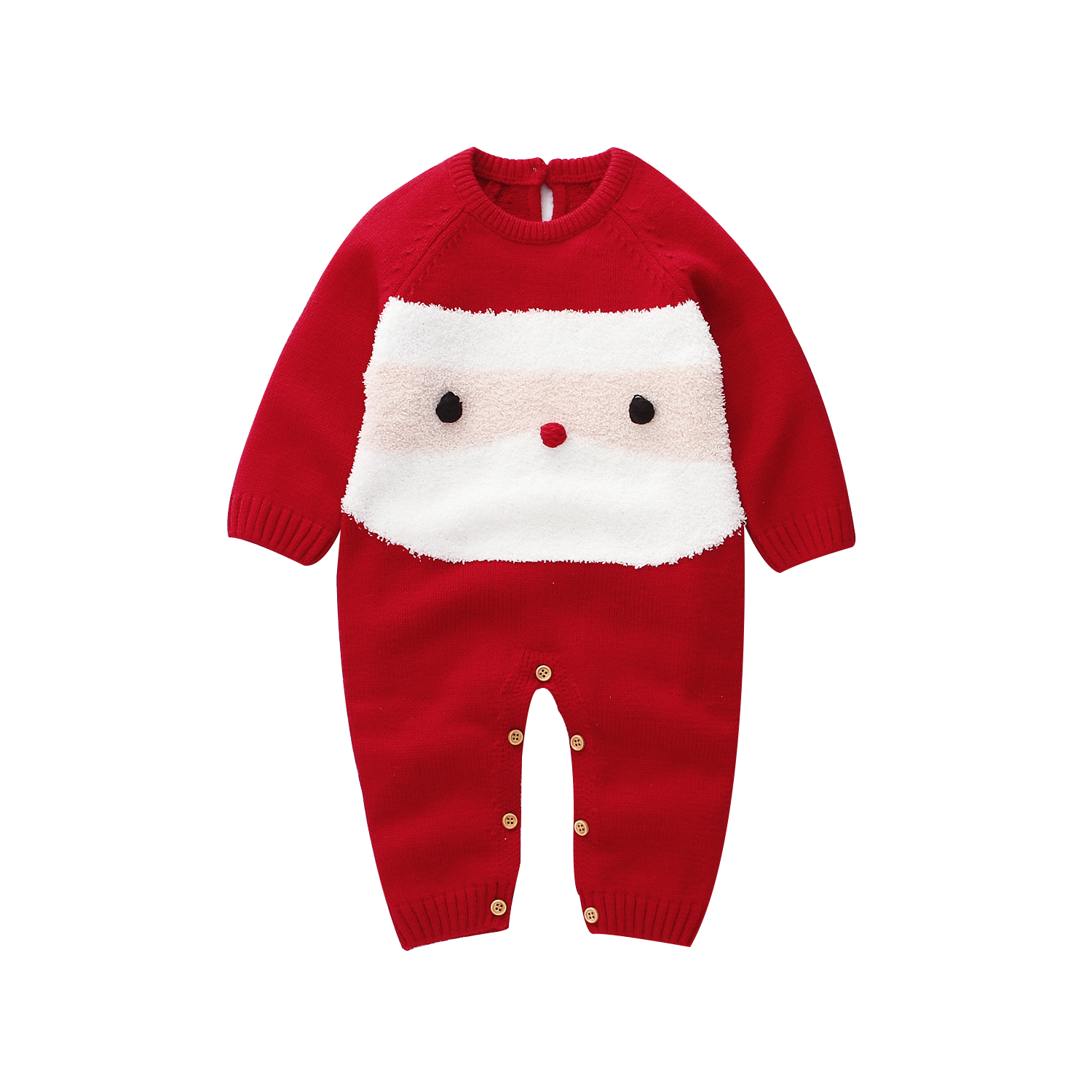Christmas Newborn Baby Girl Boy Clothes Wool Knit   Romper   Jumpsuit Warm Outfit
