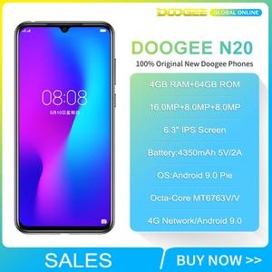 "Image 2 - Doogee N20 Mobile Phone 6.3"" Waterdrop Screen 16MP Triple Rear Cameras 4350mAh 4GB+64GB Octa core 10w charge 4G Smartphone"
