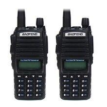 2Pcs Baofeng UV-82 Dual Band VHF/UHF 136-174/400-520 MHz 8W Handheld FM Transceiver Waterproof Two Way Radio Amateur Scanner стоимость