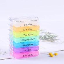 045 7 Слои складывая маленькие таблетки чехол для хранения лекарств