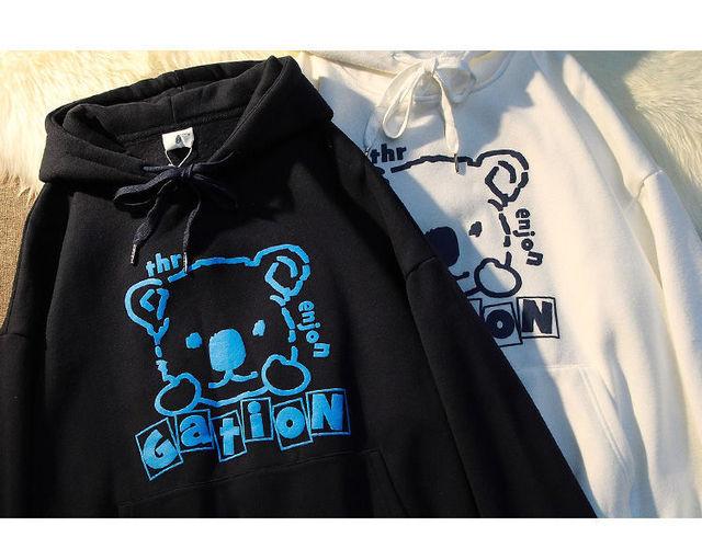 Bear 2021 new ladies hoodie round neck pullover proud couple clothing fashion top ladies sweatshirt clothes teenagers hoodie 4