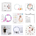Cute Baby Play Mats Infant Portray Blanket Infant Milestone Photo Props Background Cloth Kids Bed Room Decor Photo Accessories