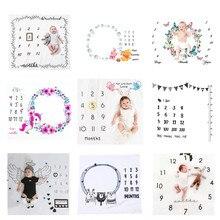 Cute Baby Spielen Matten Infant Porträtieren Decke Infant Milestone Foto Requisiten Hintergrund Tuch Kinder Bett Room Decor Foto Zubehör