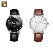 Novo original youpin twentyseventeen luz relógio mecânico com superfície de safira e pulseira de couro melhores presentes