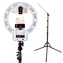 12 Inch US Interface Dimmable LED Selfie Ring Lights With 2m Light Stands Phone Clip Holder Camera Photography Video Makeup Lamp