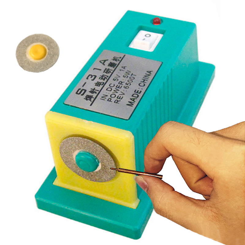 S31A Batterie spot schweißer nadel schleifen maschine mini elektrische schleifen nadel spot schweißen nadel schweißen spitze dressing schleifen