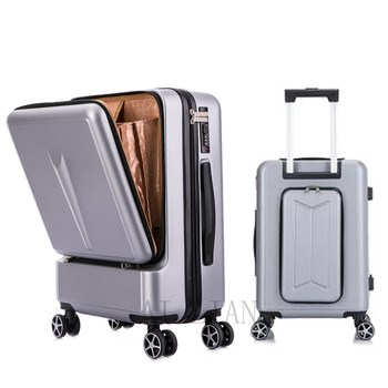 цена на Creative New Travel Suitcase rolling Luggage wheel Trolley Case women fashion Box men Valise with laptop bag 20'' carry ons case