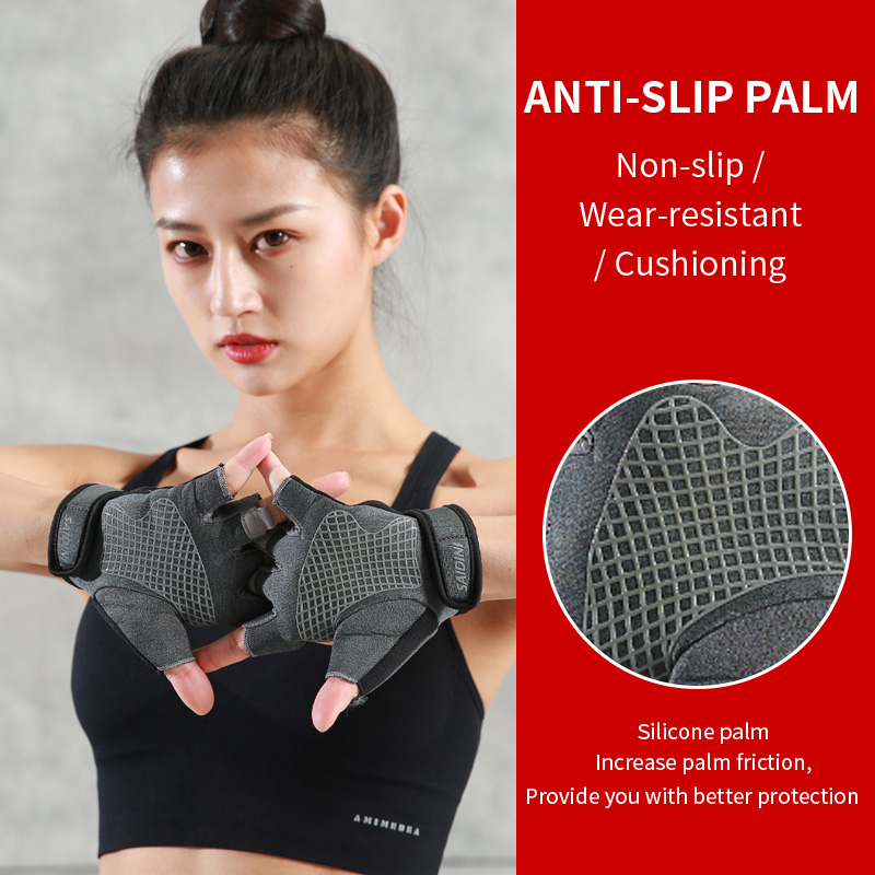 running - Sports gloves, fitness gloves, male wrist guards, male sprain protection, wrist protection, non-slip horizontal bar gloves