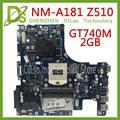 KEFU AILZA NM A181 Für Lenovo Ideapad Z510 AILZA NM A181 für Lenovo Z510 Laptop Motherboard GT740M 2GB motherboard Test|Motherboards|Computer und Büro -