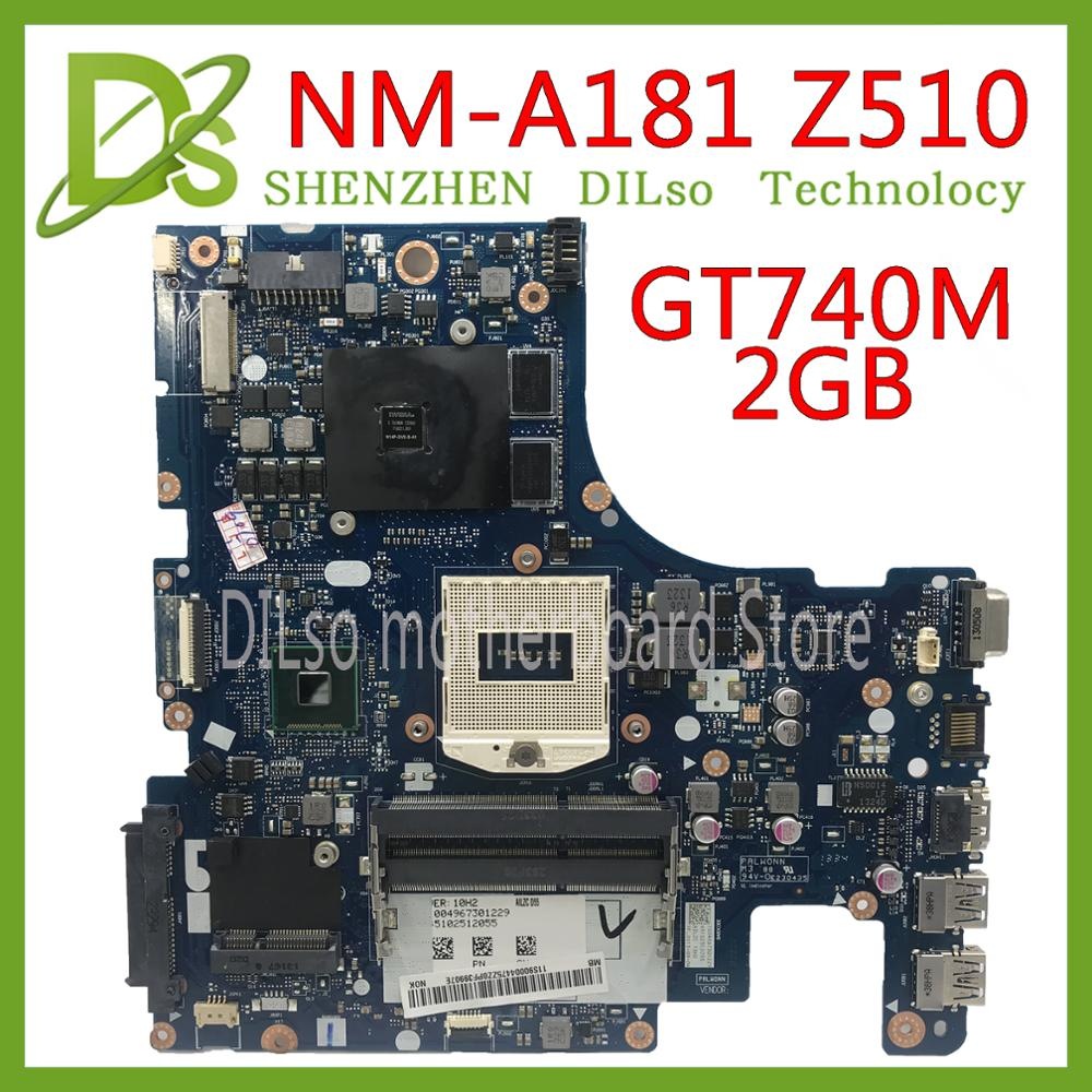 KEFU AILZA NM-A181 For Lenovo Ideapad Z510 AILZA NM-A181 For Lenovo Z510 Laptop Motherboard GT740M 2GB Motherboard Test