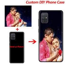 Personalizado DIY Caixa Do Telefone para Samsung Galaxy A12 A21S A51 A71 A50 A70 A10 A20 A30 A40 A10S A20S A30S A02S A32 5G Coque Silicone