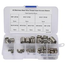 65pcs M2.5-M12 Coiled Wire Thread Insert Stainless Steel Screws Sleeve Set Tapa Tornillos