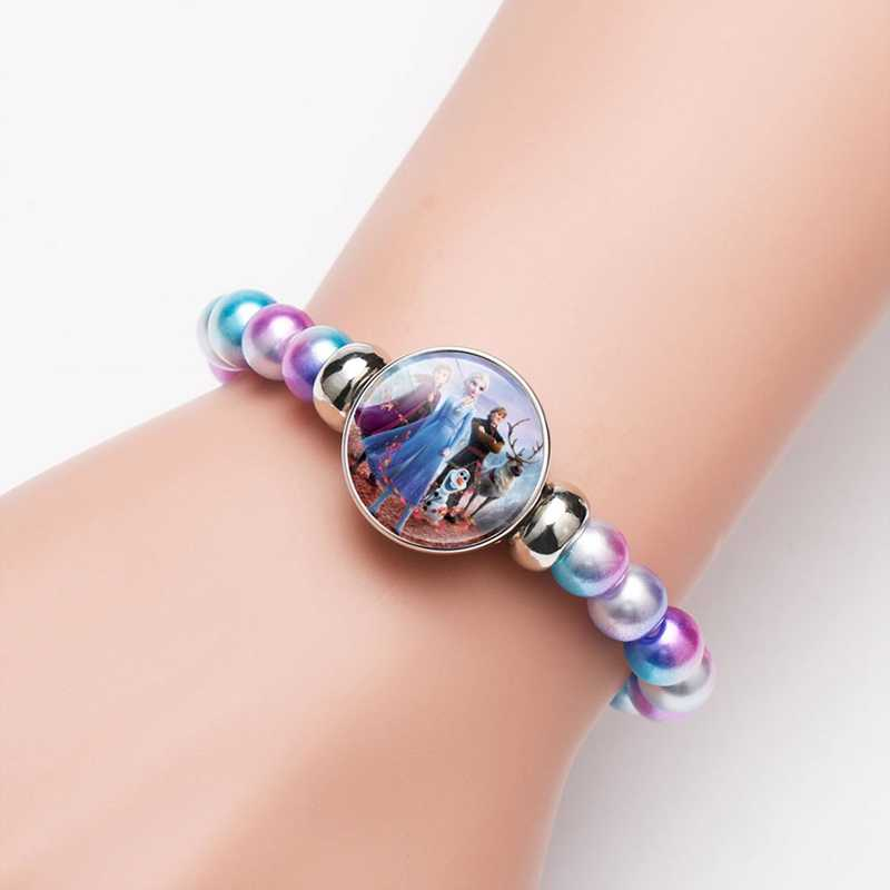 princess children cartoon bracelet lovely wristand girl gift clothing accessories bangle kid make up jewelry