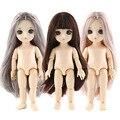 1/8 16 см оригинальная шарнирная кукла, 13 подвижных шарнирных кукол, Детская кукла для макияжа, платье, тело без одежды, кукла с нормальной коже...