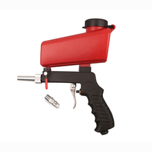 Портативный гравитационный пневматический Пескоструйный пистолет 90psi, легкий алюминиевый ручной распылитель, электроинструмент 700cfm