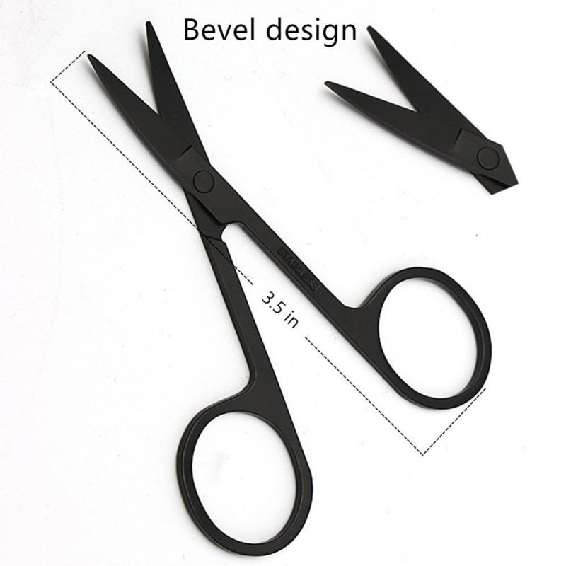 Men Shaving Barber Tools Hair Razor set Black stainless steel Straight razor Holder scissors beard style comb shaving blade set