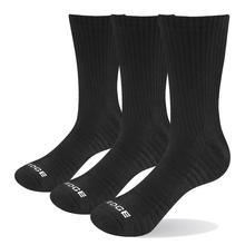 YUEDGE Brand Mens Wicking Cotton Cushion Crew Socks Comfort Breathable Casual Dress Winter Boot Socks(3 Pairs/Pack)