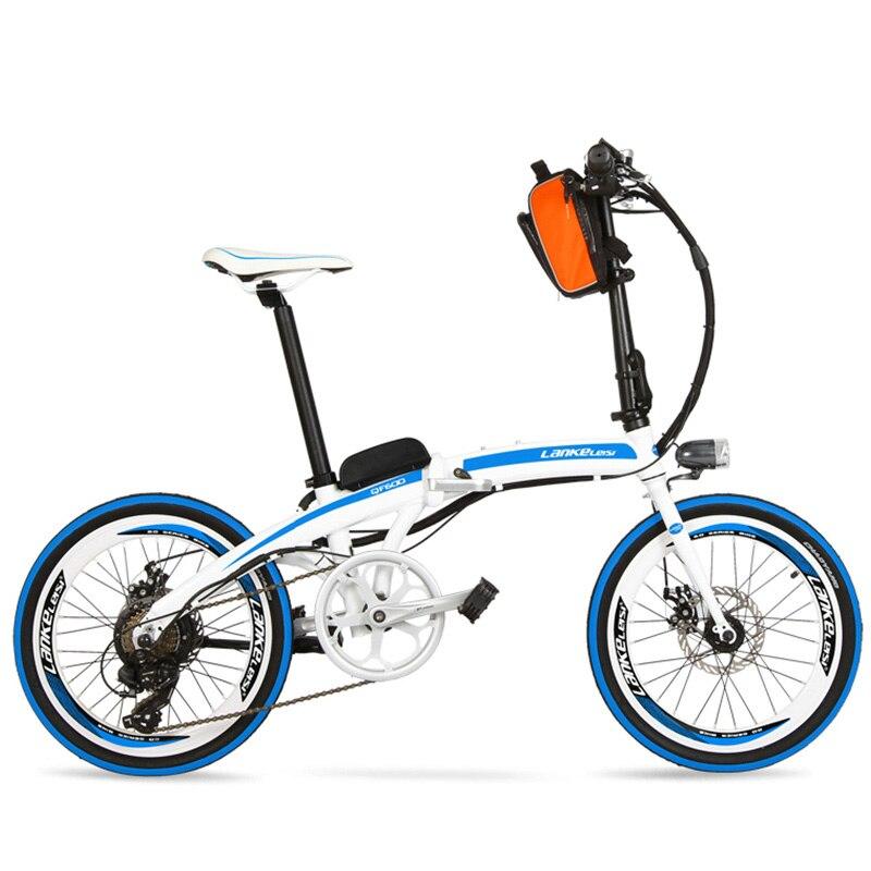 QF600 7 Speed, Fast-folding, 20″, 36/48V, 240W, Electric Bicycle, Aluminum Alloy Frame, Super Light, Folding Pedal, Disc Brake.