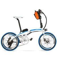 QF600 7 velocidades, plegado rápido, 20 pulgadas, 36/48 V, 240 W, bicicleta eléctrica, marco de aleación de aluminio, súper ligero, Pedal plegable, freno de disco.