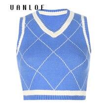 Вязаный свитер в полоску и стиле пэчворк жилеты уличная одежда