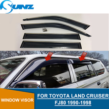 Wind deflector For Toyota LAND CRUISER Fj80 2001-2005  Window rain protector SUNZ