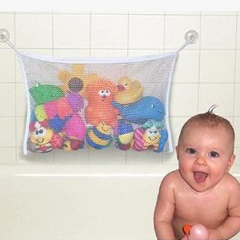 Bath Tub Organizer Bags Holder Storage Basket Kid Baby Shower Toy Net Bathtub SE