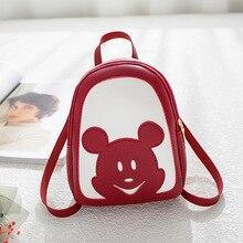 Disney Mickey mouse lady shoulder bag women Backpack PU cartoon outdoor travel backpack waterproof new shopping bag handbag