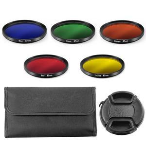 Image 5 - Kit de proteção para câmera e filtro uv, protetor de tela, caneta de limpeza, soprador de ar para canon eos m100 15 lente de 45mm