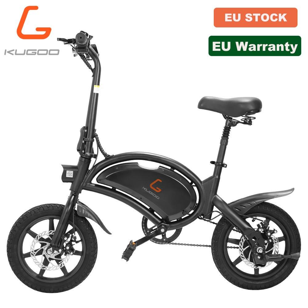 【New】【eu Stock】 Kugoo B2 Elektrische Fiets 400W 48V 7.5Ah 45Km 45 Km/h Ebike 14 Inch Luchtband schijfrem E Fiets Voor Volwassenen
