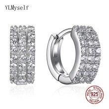 Серьги кольца женские из серебра 925 пробы яркие элегантные