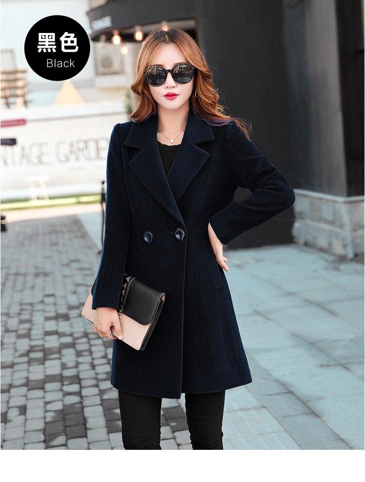 YICIYA Winter autumn Coat Women Wool Jacket Long Oversized Coats Plus Size Large Black Blend Woolen Warm Outerwear 2019 Clothing 18