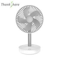 THANKSHARE Rechargeable Desk Fan Portable Ultra quiet Creative Electric USB Fans Silent Mini Desktop Ventilador Fan For Home