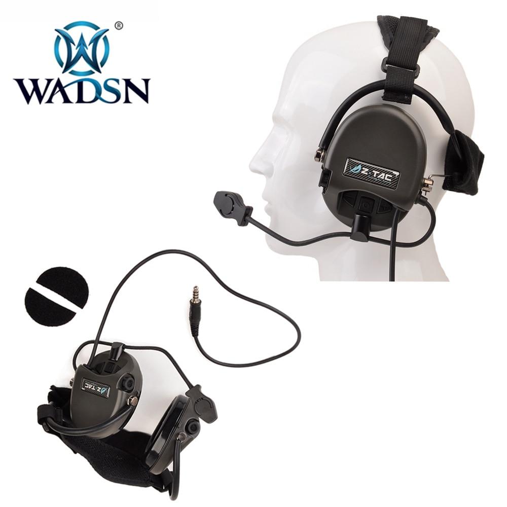 WADSN Softair Sordin Tactiacl Headset TCI LiberatorII NeckBand Pickup Noise Canceling Headphones Helmet Ear Protection Earphones