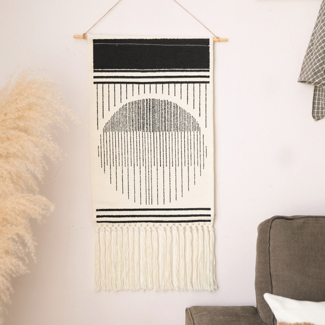 Home Boho Tasseled Tapestry 3