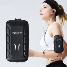 Running Fitness Armband Sports Arm Bag Multi-function Waterproof Arm Wrist Holder Outdoor Fitness Equipment PU Running  Armband general use trendy outdoor sports armband black