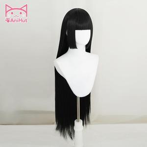 Image 2 - 【AniHut】Jabami Yumeko Wig Kakegurui Cosplay Wig Women Black 100cm Heat Resistant Synthetic Hair